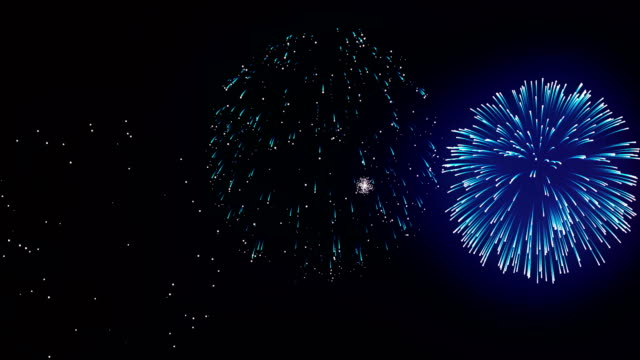 Firework display at night on black background. Bright glaring red green yellow explosions. Amazingly beautiful. Salute for new year Christmas and other holidays Firework display at night on black background. Bright glaring red green yellow explosions. Amazingly beautiful. Salute for new year Christmas and other holidays fourth of july videos stock videos & royalty-free footage