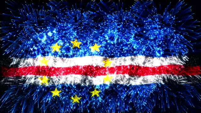 firework display flag of cape verde