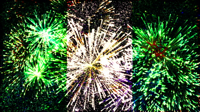 firework display flag of Nigeria video