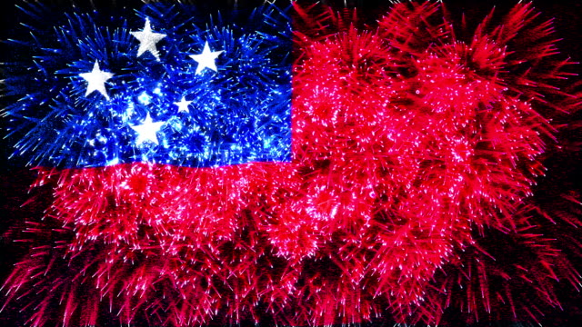 firework display flag of Samoa video