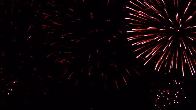 firework display. new year celebration fireworks. christmas background. 4k uhd - petardo video stock e b–roll