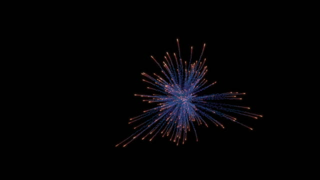 Firework explosion with trails. Separated on pure black background, contains alpha channel. firework explosive material stock videos & royalty-free footage