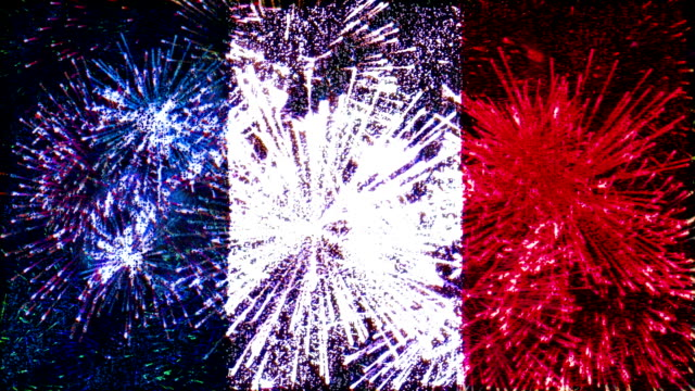 firework flag of france video