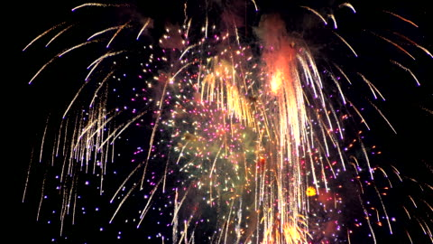 Firework in the night sky Firework in the night sky In a real celebration. happy new year stock videos & royalty-free footage