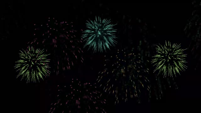 Firework on black