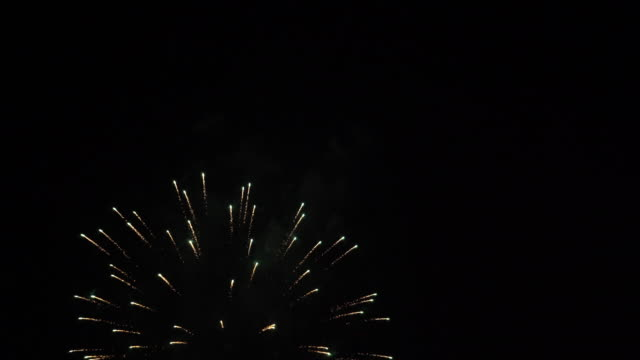 Firework on sky at night video