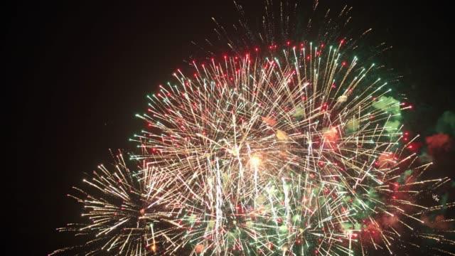 firework - luglio video stock e b–roll