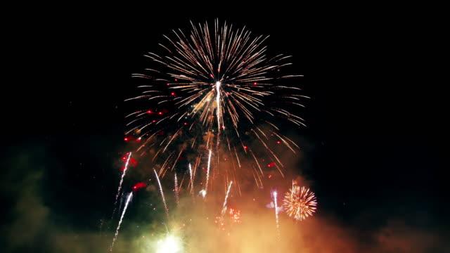 фейерверк - new year стоковые видео и кадры b-roll