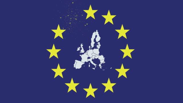 brexit fyrverkverk (eu-flaggan + eu-karta) - brexit bildbanksvideor och videomaterial från bakom kulisserna