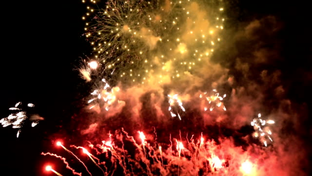 fireworks celebrate party for christmas and new year - memorial day стоковые видео и кадры b-roll