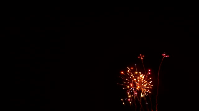fireworks celebration on the day of the big business success. - fare un passo video stock e b–roll