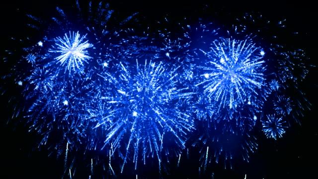 Fireworks Display blue color