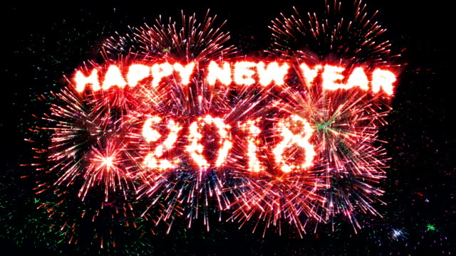 Fireworks Display countdown Happy new year 2018 video