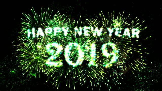 fireworks display countdown happy new year 2019 green 4k stock video more clips of 2019 1021195054 istock