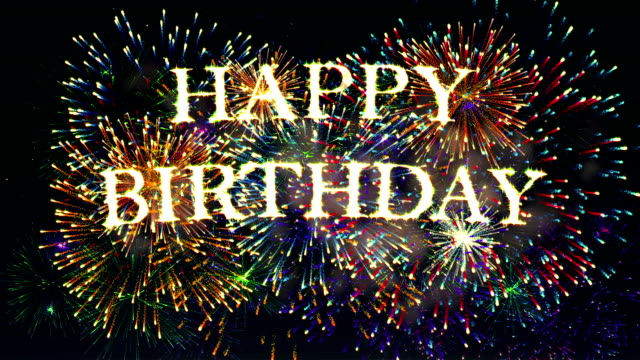 Fireworks Display happy birthday Fireworks Display happy birthday happy birthday stock videos & royalty-free footage