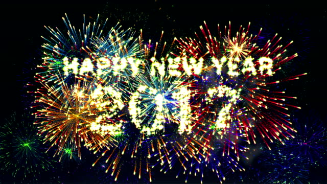 Fireworks Display Happy new year 2017 video