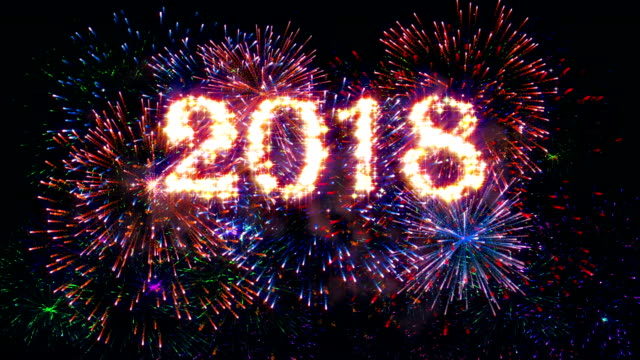 Fireworks Display Happy new year 2018 video
