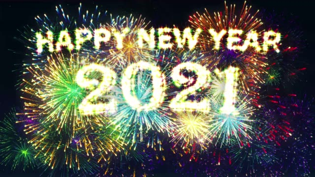 Fireworks Display Happy new year 2021 video