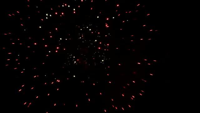 шоу фейерверков. - new year стоковые видео и кадры b-roll
