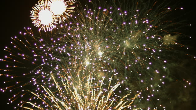 Fireworks display video
