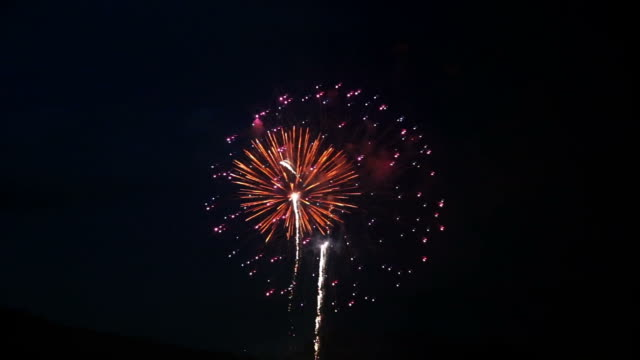 fireworks display - canada day stock videos & royalty-free footage