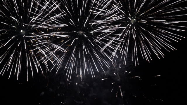 Fireworks display. 30 second clip of firework display against a night sky. fireworks stock videos & royalty-free footage