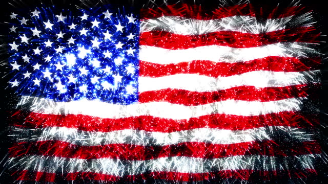 fireworks flag of usa video