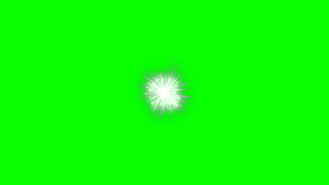 fireworks holiday background, green screen chromakey - petardo video stock e b–roll