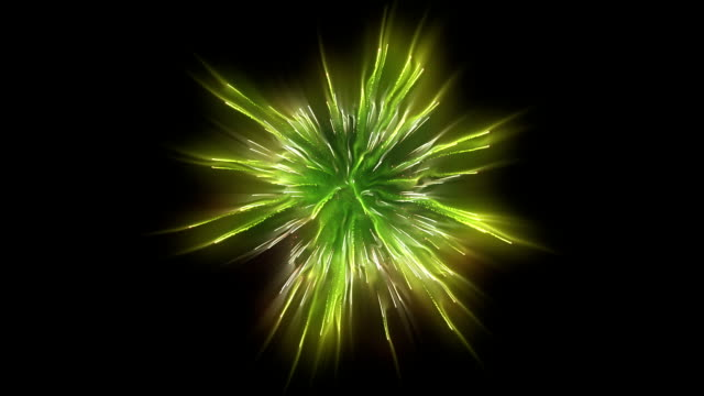 Fireworks holiday background,golden green against black Fireworks holiday background,golden green against black circa 4th century stock videos & royalty-free footage