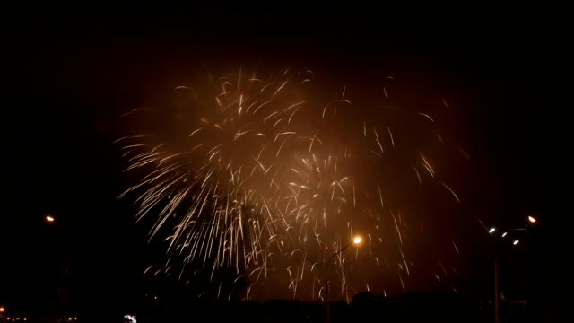 Fireworks in independence day. video
