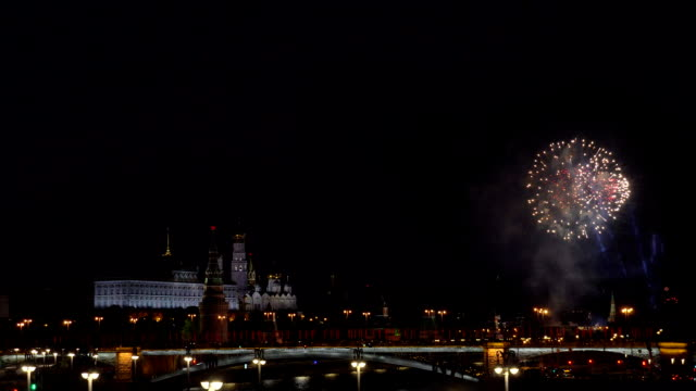 Fireworks in the center of Moscow at the Kremlin Fireworks in the center of Moscow at the Kremlin. explosive stock videos & royalty-free footage