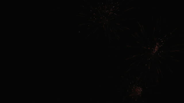 Fireworks in the new year festival Is a great new year celebration