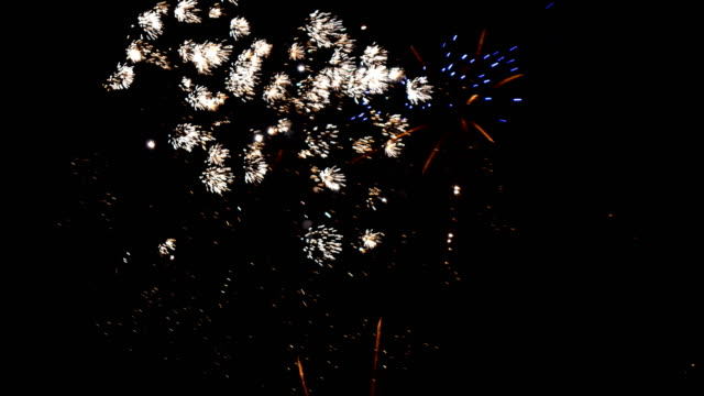 Fireworks in the night sky Fireworks in the night sky happy 4th of july videos stock videos & royalty-free footage