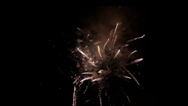Fireworks in the night sky Fireworks in the night sky circa 4th century stock videos & royalty-free footage