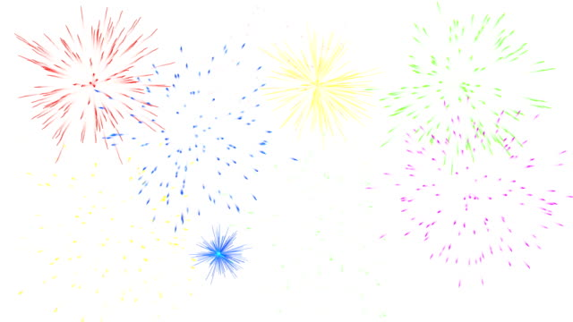fireworks isolated on white background. - petardo video stock e b–roll