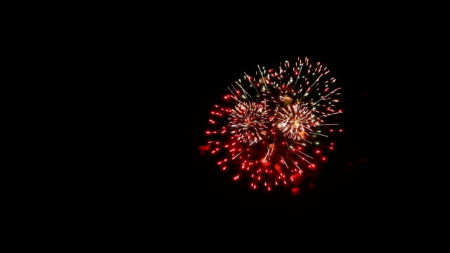 Fireworks light up the sky HD : Fireworks light up the sky with dazzling display circa 4th century stock videos & royalty-free footage
