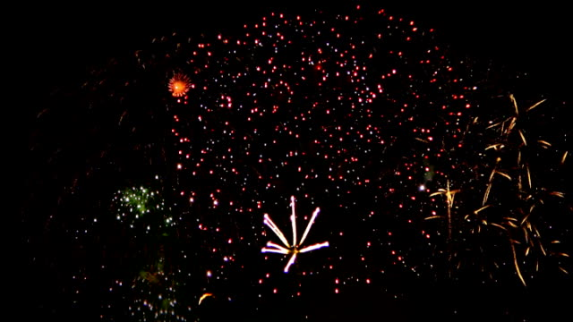 Fireworks - Looped Display SD Fireworks Display looped bastille day stock videos & royalty-free footage