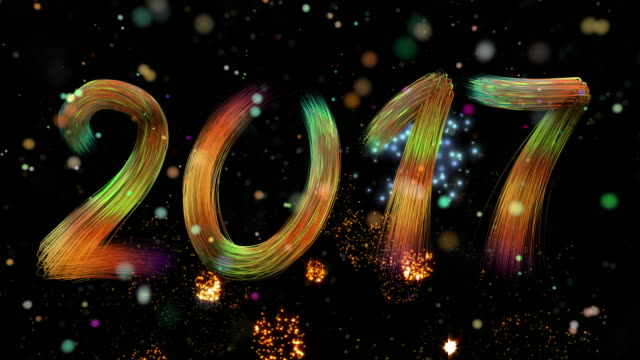 Fireworks, New Year 2017 video