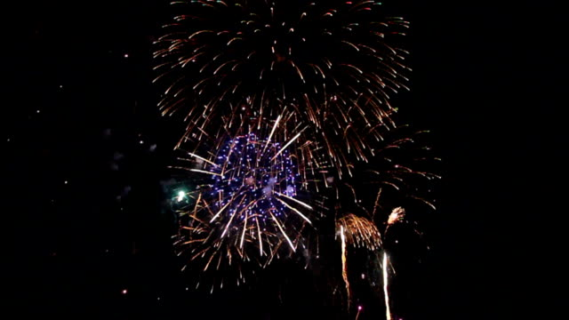 Fireworks or firecracker in the darkness. video