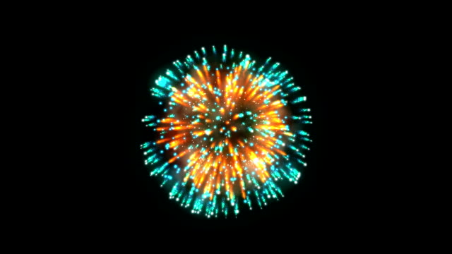 Fireworks, orange and blue holiday background, against black Fireworks, orange and blue holiday background, against black circa 4th century stock videos & royalty-free footage