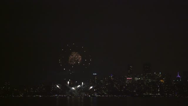 Fireworks over English Bay Vancouver 4K UHD video