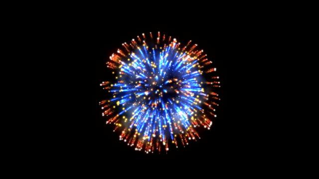 фейерверки, красный и синий праздник фон, против черный - fireworks стоковые видео и кадры b-roll