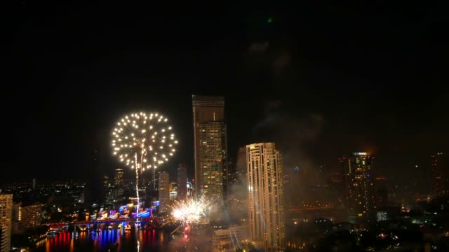 Fireworks show above river Fireworks show to night Fireworks show to night explosive stock videos & royalty-free footage
