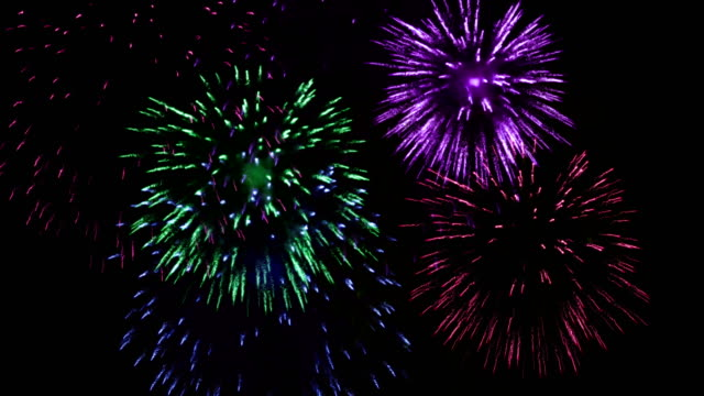 4k fireworks show background - petardo video stock e b–roll