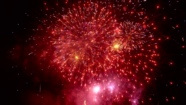 Fireworks show in 4K slow motion Professional video of fireworks show in 4K slow motion 60fps fireworks videos stock videos & royalty-free footage