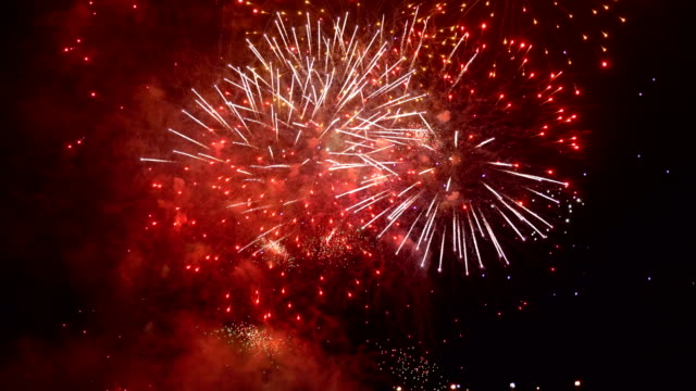 Fireworks show in 4K slow motion Professional video of fireworks show in 4K slow motion 60fps fireworks stock videos & royalty-free footage