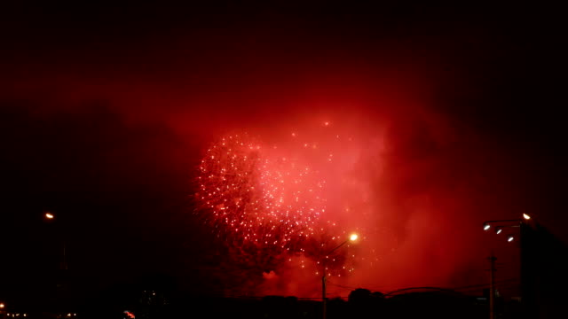 Fireworks show in holiday. video