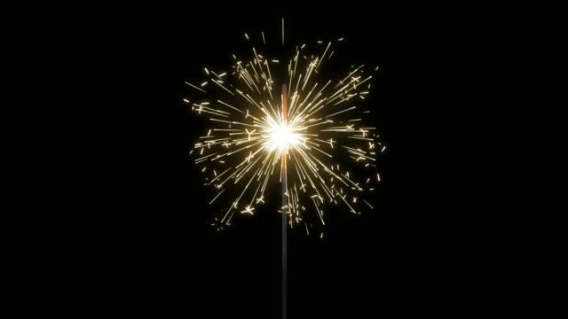 fireworks sparkler loops - luglio video stock e b–roll