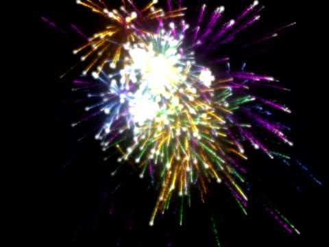 fireworks - 管卡規格 個影片檔及 b 捲影像