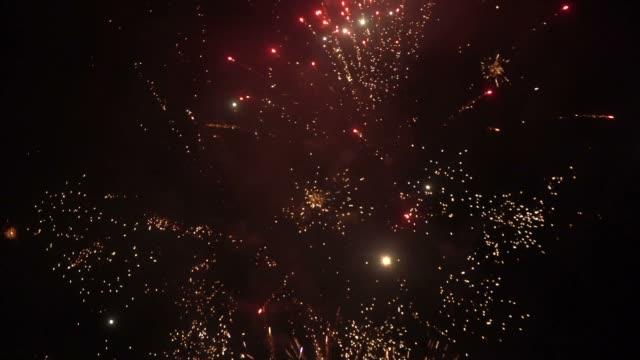 fireworks - luglio video stock e b–roll